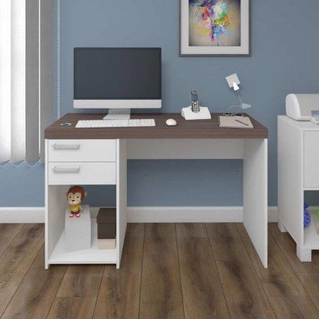 Mesa para Computador Escrivaninha 120 cm Avelã com Branco 10583005