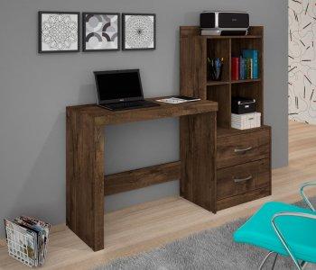 Mesa para Computador Escrivaninha 141 cm com Armário Cacau 10184283