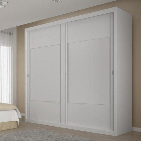 Guarda Roupa Dali com 2 Portas de Correr 210 cm Branco 10538019