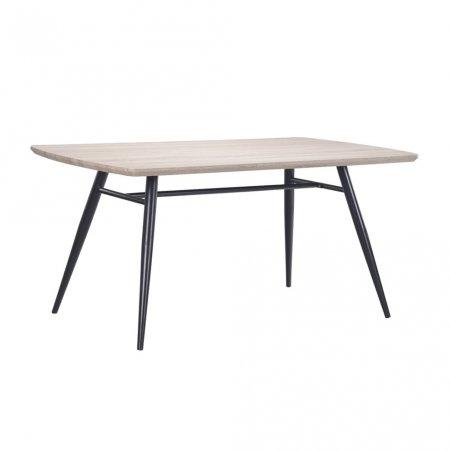 Mesa para Cozinha 140x80 cm com Base de Aço Preto 10394116