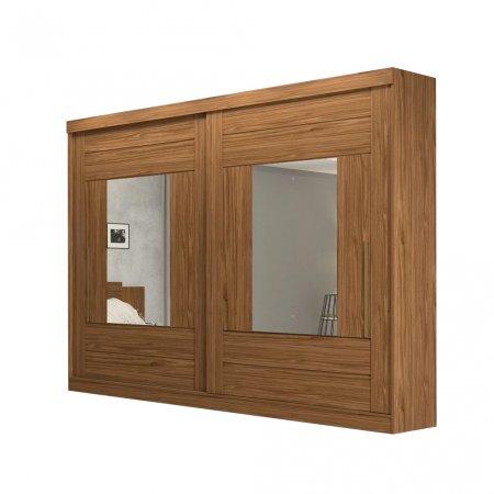 Guarda Roupa com 2 Portas de Correr e 2 Espelhos 264 cm Avelã 10176062