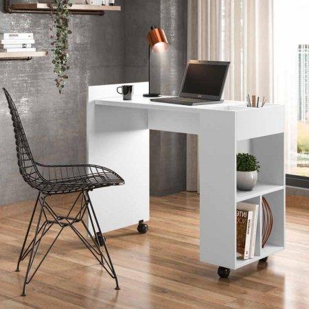 Escrivaninha Mesa de Computador 95cm Alessa M2 Branca