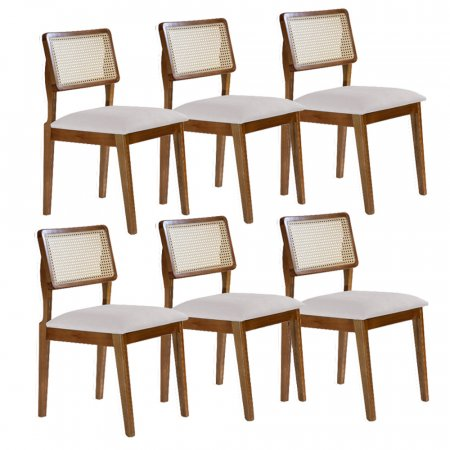 Conjunto de 6 Cadeiras Trento com Tela 10335063