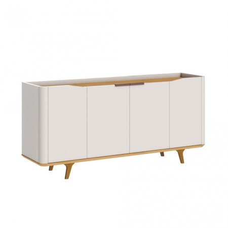 Buffet Balcão 160 cm Off White com Nature 10327080