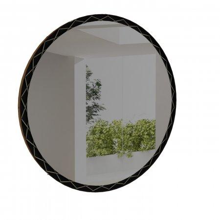 Espelho 120 cm Rudnick Arus Preto Fosco e Caramelo 10579091
