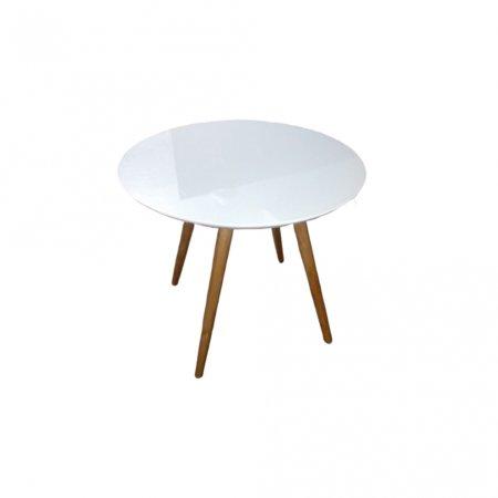 Mesa de Jantar Redonda 90 cm Off White com Mel 10460004