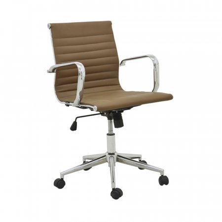 Cadeira de Escritório Sevilha Estofada Marrom Escuro 10394152