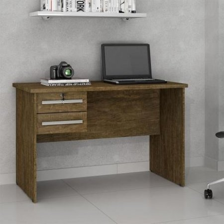 Mesa para Computador Escrivaninha 116 cm Valdemóveis Byte Ipê 10561022