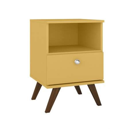 Criado 40 cm com 1 Gaveta Amarelo 10547089