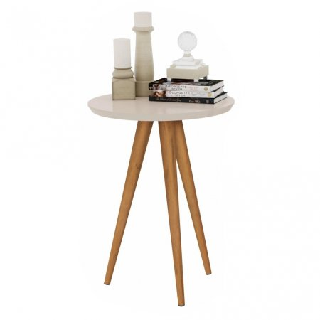 Mesa de Apoio 50x60 cm com Pés Palito Off White 10460020