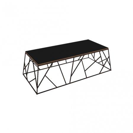 Mesa de Centro 130 cm Preto fosco 10579083