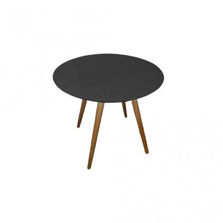 Mesa de Jantar Redonda 90 cm Preto com Mel 10460006