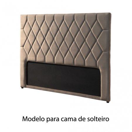 Cabeceira Estofada Plat 95 cm Solteiro MP015 Marrom Claro 10565546