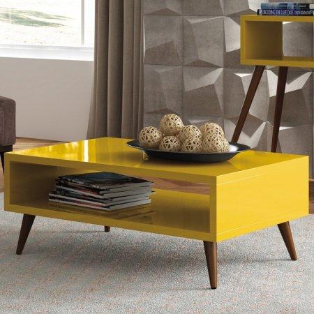 Mesa de Centro 90 cm Amarelo 10346268