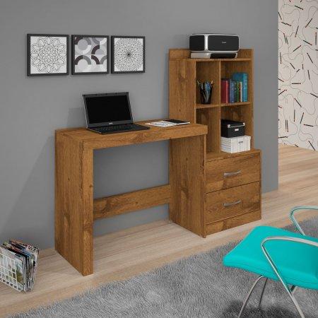 Mesa para Computador Escrivaninha 141 cm com Armário Nobre Soft 10184247