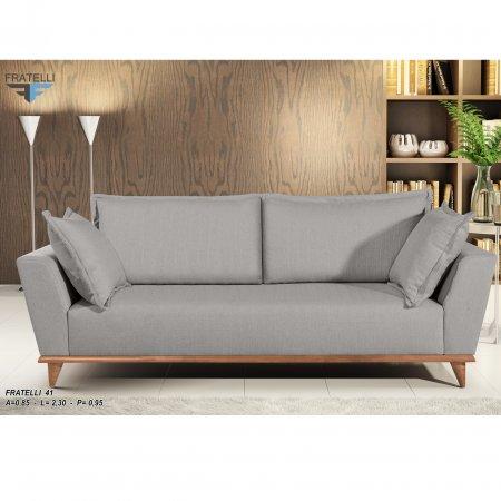 Sofá Cotidiano modelo 41 3 Lugares 210cm tec 899 Cinza