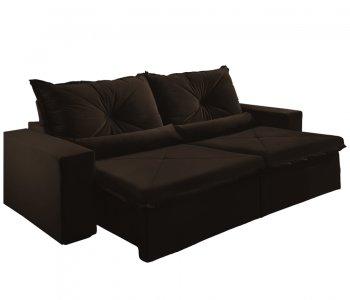 Sofá Retrátil Mont 250 cm Marrom Escuro 10595035