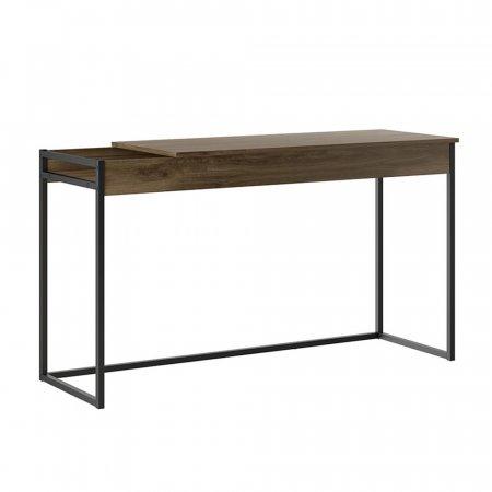 Mesa para Computador Escrivaninha e Penteadeira 136 cm Legno com Metal Preto 10400108