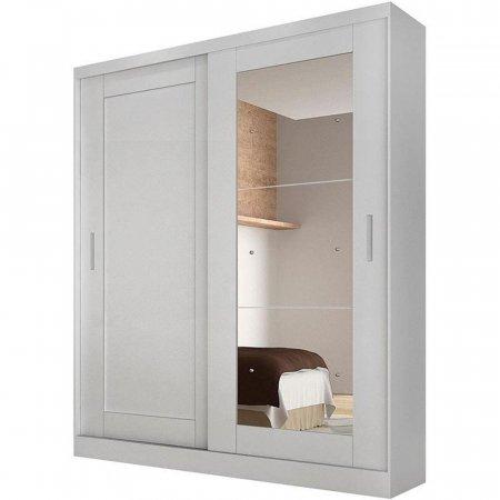 Guarda Roupa 180 cm Rufato Paris 2 Portas de Correr com Espelho Branco 105381073