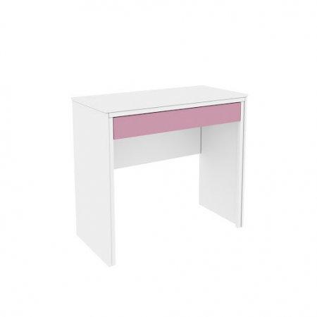Mesa para Computador Escrivaninha Twister 90 cm com 1 Gaveta Neve com Rosa 10044152