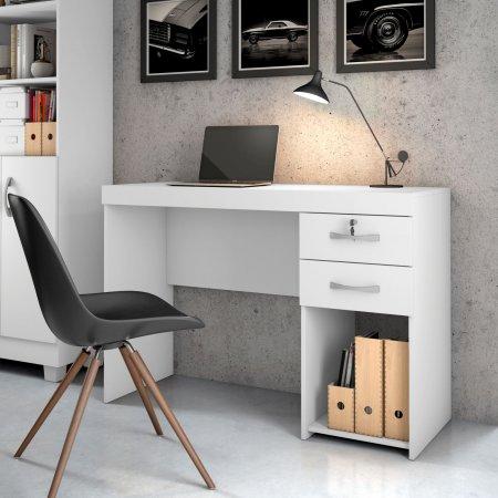Mesa para Computador Escrivaninha 120 cm Branca 10184282