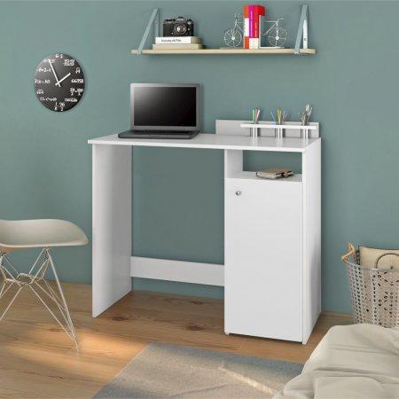 Mesa para Computador Escrivaninha 98 cm Branca 10184280