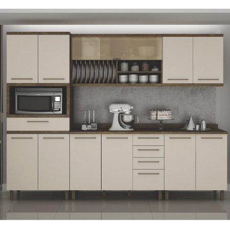 Cozinha 280 cm Tarantela 5 Peças Ipê com Off White