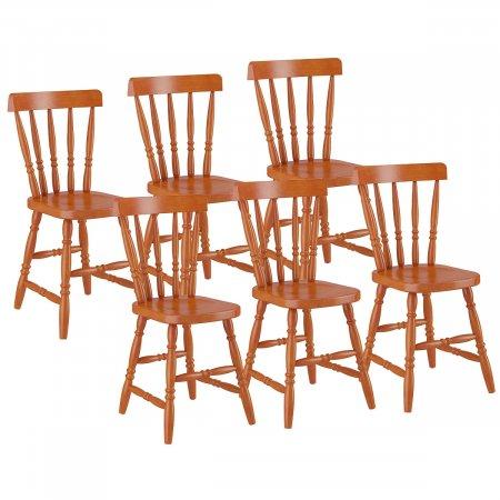 Conjunto 6 Cadeiras de Madeira 102LA Mel 10143164