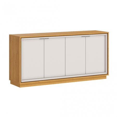 Buffet Balcão 160 cm Off White com Nature 10327089