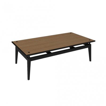 Mesa de Centro 130 cm Preto com Amêndoa 10579073