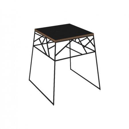 Mesa de Canto 60 cm Rudnick Vies Fit Preta 10579082