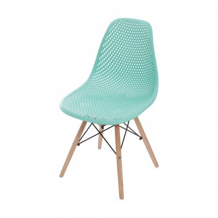 Cadeira Colméia Tiffany com Base Eiffel de Madeira