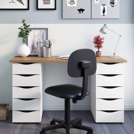 Mesa para Computador Escrivaninha 120 cm Nogal/Branco 10583004