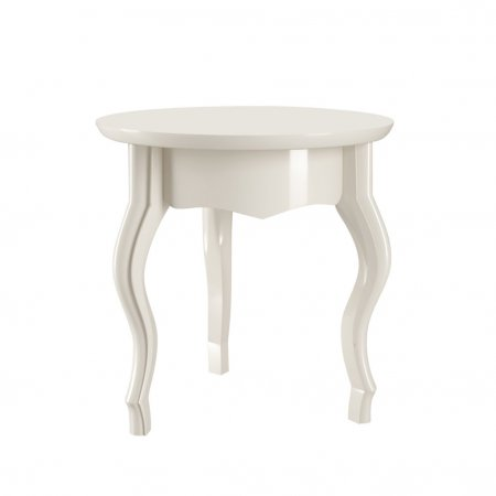 Mesa Lateral Baixa EDN Duquesa 40 cm Off White 10180175