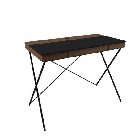 Escrivaninha Munique 115 cm Avelã com Preto 10579111