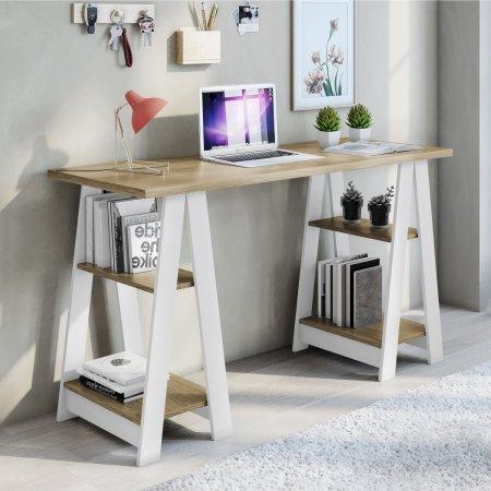 Mesa para Computador Escrivaninha 136,5 cm Branco com Noronha 10184370