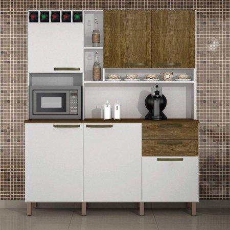Kit de Cozinha Topázio 165 cm Branco com Ipê Demolição 10597027