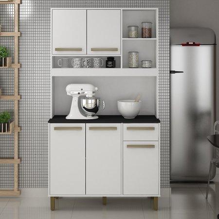 Kit de Cozinha Valdemóveis Ametista 110 cm Branco 10561024