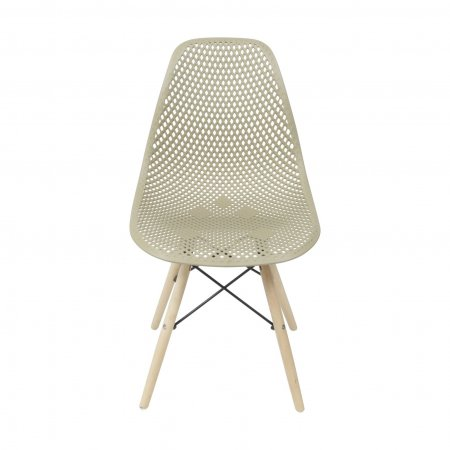 Cadeira Colmeia Fendi com Base Eiffel de Madeira 10580030