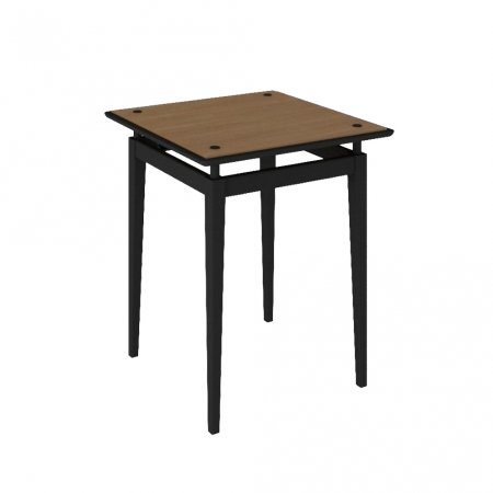 Mesa de Canto 60 cm Preto com Amêndoa 10579074