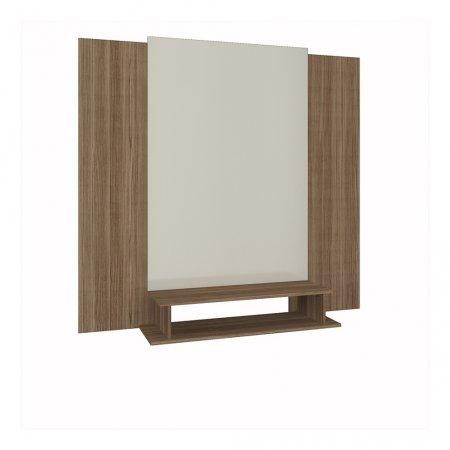 Painel de TV 100x140x160 cm Rimo Setiba Freijó com Off White 10523324