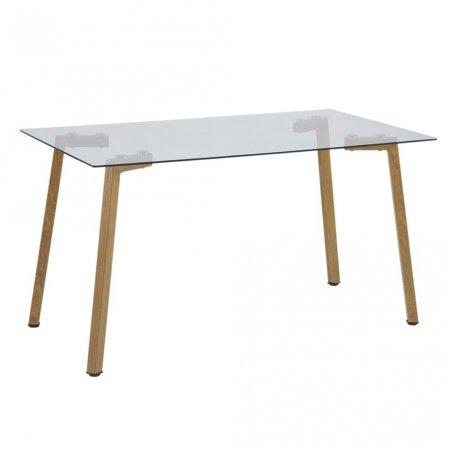 Mesa para Cozinha 120x80 cm com Tampo de Vidro e Pés de Aço Tuia 10394147