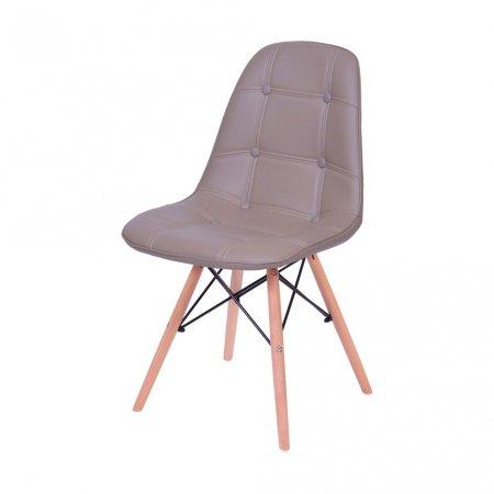 Cadeira Botone Fendi com Base Madeira 10580038