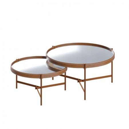 Conjunto Mesa de Centro 57 e 71 cm Aqua Espelho/Cobre 10327099