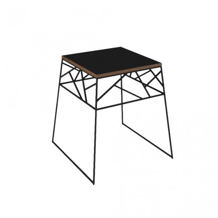 Mesa de Canto 60 cm Preta 10579082