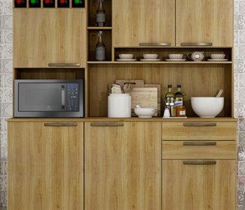 Kit de Cozinha Topázio 165 cm Carvalho 10597054